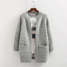 602bc614a5 2017sale Limited Flat Knitted Sweaters And Poncho Cardigan New Sweater With  Spring Outerwear Medium long Loose Cardigan Women -in Cardigans from Women s  ...