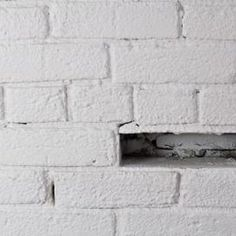 Removing white paint from brick requires chemical strippers. White Painted Fireplace, Painted Brick Walls, Painted Brick Fireplaces, Paint Fireplace, Fireplace Remodel, Fireplace Brick, Fireplace Mantels, Mantle, Stripping Paint