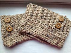 Eat*Run*Create: FREE: Crocheted Adjustable Boot Cuffs Pattern
