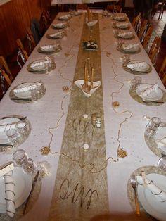 décoration de table noces d'or