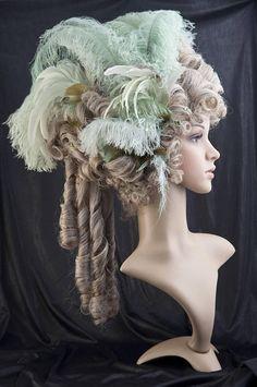 Rococò-parrucca / / Marie Antoinette Wig / / Historische