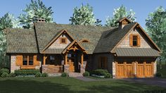 Home Plan HOMEPW76974 - 2184 Square Foot, 3 Bedroom 3 Bathroom Craftsman Home with 2 Garage Bays | Homeplans.com