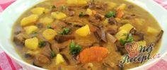 Recept Bramboračka s červenými houbami (první letošní houby) Cheeseburger Chowder, Thai Red Curry, Ethnic Recipes