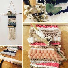 Tissage avec laine et fleurs séchées Creations, Diy, Table Decorations, Furniture, Home Decor, Dried Flowers, Weaving, Wool, Home