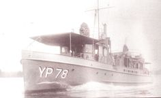 This photo of one of the YP boats built at Hutchinson's Boat Works in Alexandria Bay was taken in 1942 during a test run on the St. Lawrence River.