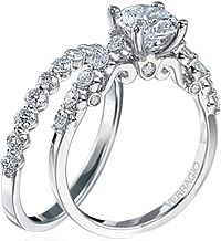 Verragio Round Brilliant Cut Diamond Engagement Ring INS-7034