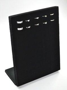 Amazon.com - KLOUD ® Black velvet 50 slots ring organizer/tray/pad /showcase/ display case + KLOUD cleaning cloth - Jewelry Display