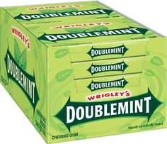 """Doublemint Gum, 15 Sticks Each (Pack Of 20). Doublemint lasts longer than any """"long lasting"""" gum. Part of that reason is that it uses natural sugar as the sweetener. I have loved this gum since I was a kid. Packaging keeps the gum fresh. It's nice to taste gum from your childhood. It doesn't resemble regular mint flavor at *all*. Not even a little bit. Doublemint actually tastes a thousand times better. But at the same time, doublemint actually makes your breath smell just as great."""