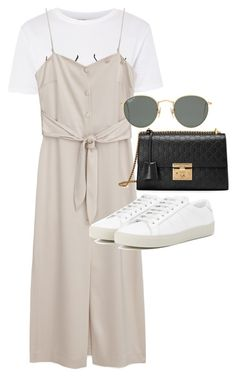 """Untitled #23160"" by florencia95 ❤ liked on Polyvore featuring Topshop, Gucci, Ray-Ban and Yves Saint Laurent"
