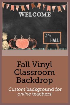 This is the perfect little pumpkin patch for your classroom. The pumpkins won't rot and its simple take down and fold to put away has never made changing your online learning experience more easy. Classroom Background, Office Background, Science Classroom Decorations, Math Tips, Online Classroom, Vinyl Backdrops, Pumpkins, Ears, Minimalist
