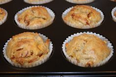 Holy macaroni!: Lunsjmuffins med pepperoni og ost