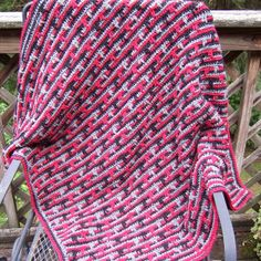 R&R Crochet Blanket | AllFreeCrochet.com DRIPPING LINES BLANKET - THINK OF IT USING ALL YOUR SCRAPS