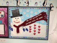 Snowman for winter bulletin board