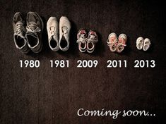 Adorable announcement... Although there would be a big gap between the 1st 2 pairs, might freak people out LOL...