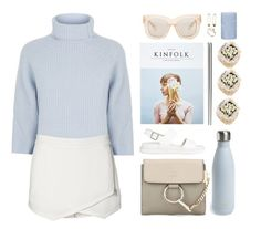 """It's never too late to be what you might have been"" by gitasamudra ❤ liked on Polyvore featuring Maje, Acne Studios, Chloé, Ultimate, Witchery, ASOS, Broste Copenhagen and S'well"