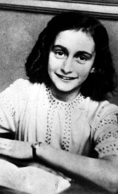 Anne Frank, portret. Amsterdam.