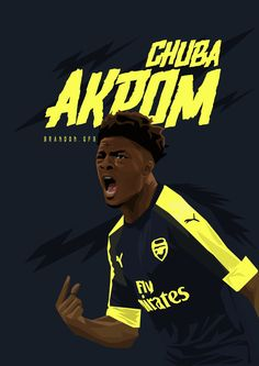 Chuba Akpom, up-and-coming Arsenal Forward.