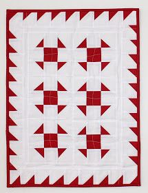 I just finished making this little Valentine quilt for a member of my guild. Even if she sees this post, she doesn't know who it's for....