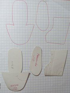 Мастер-класс, выкройка. Процесс изготовления ботиночек для куклы BJD / Мастер-классы, творческая мастерская: уроки, схемы, выкройки кукол, своими руками / Бэйбики. Куклы фото. Одежда для кукол