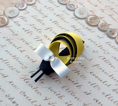 Bumble Bee Hair Clip Perfect for Spring Birthdays by blushingbaby, $3.00