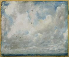 Art appreciation: John Constable,  Study of Clouds. His painting of clouds and labeling the back led to Luke Howard's classification of clouds system.