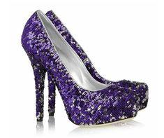 Sequin Purple Heels, divinos estos con lentejuelas #dolceandgabbanashoeshighheels