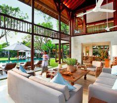 Bali Luxury Private Villa near Tanah Lot, Bali: stylish 4-bedroom villa surrounded by rice fields. i-escape.com