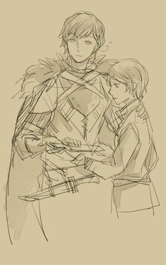 Hetalia - Norway and younger Iceland : Viking Sketch