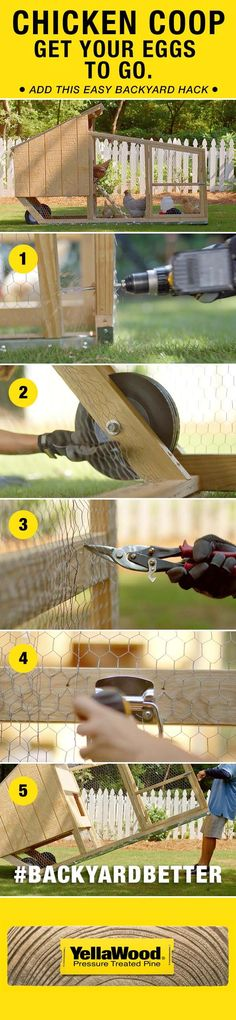 Get your eggs to go with this easy chicken coop backyard hack. Get your eggs to go with this easy chicken coop backyard hack. Easy Chicken Coop, Chicken Coup, Chicken Coop Plans, Building A Chicken Coop, Chicken Pen, Mobile Chicken Coop, Clean Chicken, Chicken Ideas, Keeping Chickens
