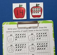 Engaging Fall Math Centers for Your Little Learners!  $   #apples  #fall…