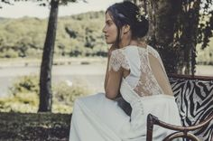 Laurent Nivalle - La mariee aux pieds nus - Laure de Sagazan - Robes de mariee - Collection 2015 - Robe Allen - dos