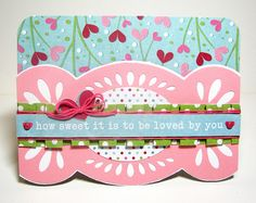 Here is an adorable card with the Lucky 8 Punch, which has been layered with another piece of paper.  #wermemorykeepers #cards #cardmaking