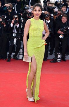 Freida Pinto ('Slumdog Millionaire,' 'Rise of the Planet of the Apes,') attends the screening of 'De rouille et d'Os' at the 65th Annual Cannes Film Festival in Cannes, France on May 17, 2012.