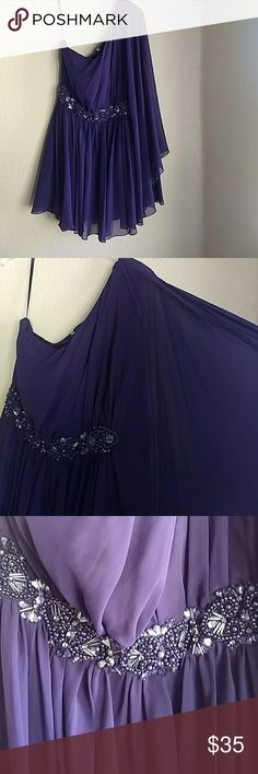 Purple dress Purple size 12 dress first picture is to show dress... Dress is last two pictures JS Boutique Dresses