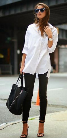 classic white button down - casual Fridays