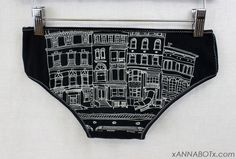 Extra Small  Buildings  Low Rise Panties Knickers by xannabotx, $12.00