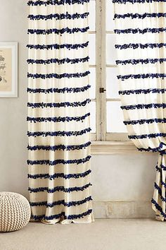 Anthropologie - Swing Stripes Curtain