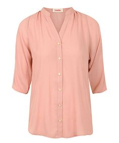 Another great find on #zulily! Pink Farrow Button-Up Top #zulilyfinds