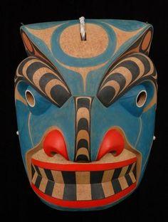 Bella Coola Sea Bear Mask carved by Gene Brabant.