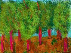 Digital paintings by Núria Puig. Hockney inspired.