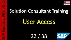 SAP - Course Free Online: 22-38 - User Access