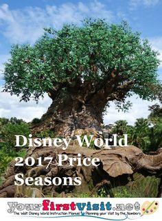 Disney World 2017 Price Seasons - The Walt Disney World Instruction Manual… Disney World Prices, Disney World Deals, Disney World 2017, Disney World Vacation Planning, Disney World Florida, Disney World Parks, Walt Disney World Vacations, Disney Planning, Florida Vacation