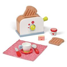 Picnik Wooden Toaster with Accessories - Janod for sale by Little Shop of Treasures. Other Janod available now at LSOT.