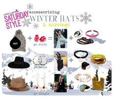 Accessorizing Winter Hats & Earrings  #jewelry #eco #ecofashion #ecojewelry #ecofriendly #empowering #ecoresin #accessorizeresponsibly