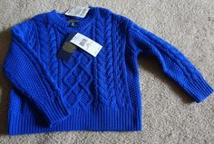 Polo Ralph Lauren Deep Royal 3/3T Sweater NWT 55%Nylon/30%Wool/15%Acrylic China #PoloRalphLauren #Pullover #Everyday