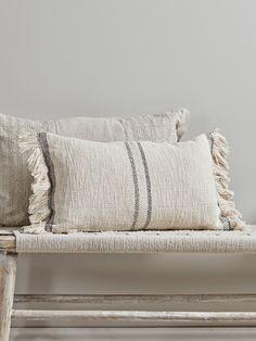 NEW Woven Fringed Cushion - Luxury Cushions - Soft Furnishings Boho Cushions, Luxury Cushions, Decorative Cushions, Scatter Cushions, Throw Pillows, Neutral Cushions, Modern Cushions, Cushions On Bed, Designer Cushions