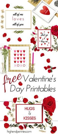 Super cute and classy Valentine's Day printables FREE