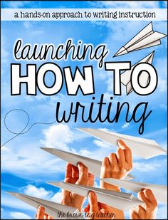 1st Grade How-To Writing with how to make a paper airplane