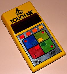 Vintage Atari Touch Me Electronic Handheld Game, Model BH-100, Red LED, Atari's Only Handheld Game, Made In Taiwan, Circa 1978.