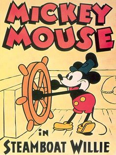 Mickey Mouse, perhaps the most famous cartoon character in the world, created by Walt Disney and Ub Iwerks in 1928.